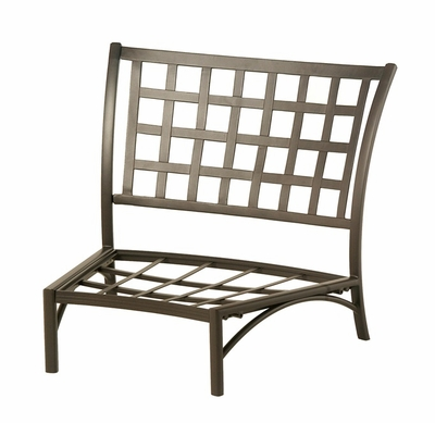 The Tucson Collection Commercial Cast Aluminum Middle Crescent Club Chair