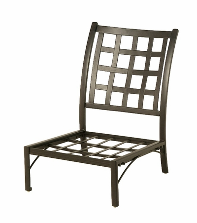 The Tucson Collection Commercial Cast Aluminum Middle Stationary Club Chair