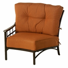 The Tucson Collection Commercial Cast Aluminum Right Crescent Club Chair