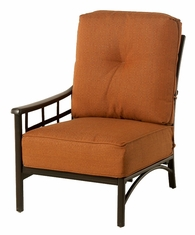 The Tucson Collection Commercial Cast Aluminum Right Stationary Club Chair