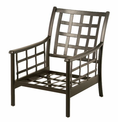 The Tucson Collection Commercial Cast Aluminum Stationary Club Chair