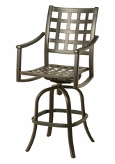 The Tucson Collection Commercial Cast Aluminum Swivel Bar Height Chair