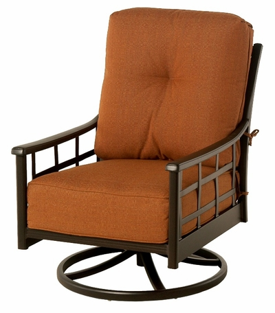The Tucson Collection Commercial Cast Aluminum Swivel Club Chair