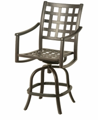 The Tucson Collection Commercial Cast Aluminum Swivel Counter Height Chair