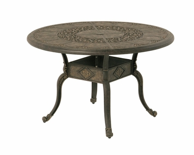 "The Tuscana Collection Commercial Cast Aluminum 46"" Round Dining Table With Leg Base"