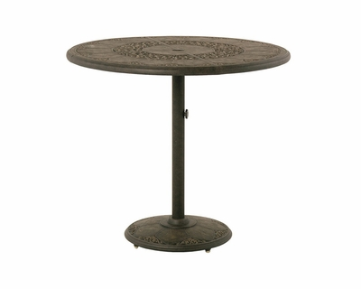 """The Tuscana Collection Commercial Cast Aluminum 46"""" Round Pedestal Bar Height Table"""