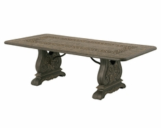 "The Tuscana Collection Commercial Cast Aluminum 90"" Rectangle Dining Table With Trestle Base"