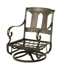 The Tuscana Collection Commercial Cast Aluminum Club Swivel Glider