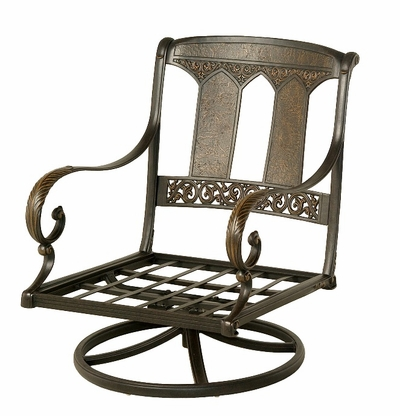 The Tuscana Collection Commercial Cast Aluminum Swivel Club Chair
