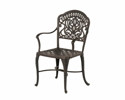 The Tribeca Collection Commercial Cast Aluminum Stationary Dining Chair