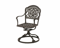 The Tribeca Collection Commercial Cast Aluminum Swivel Dining Chair