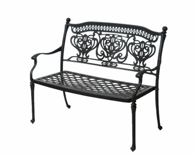 The Tybe Collection Commercial Cast Aluminum Bench