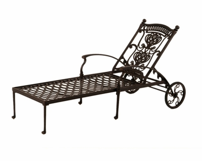 The Tybe Collection Commercial Cast Aluminum Single Chaise Lounge