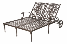 The Tybe Collection Commercial Cast Aluminum Double Chaise Lounge