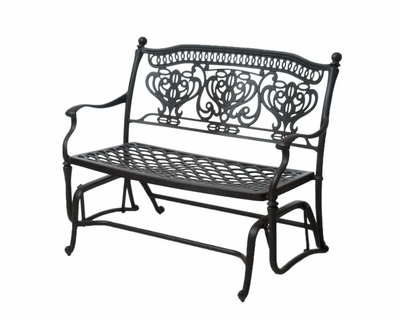 The Tybe Collection Commercial Cast Aluminum Double Glider