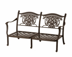 The Tybe Collection Commercial Cast Aluminum Loveseat