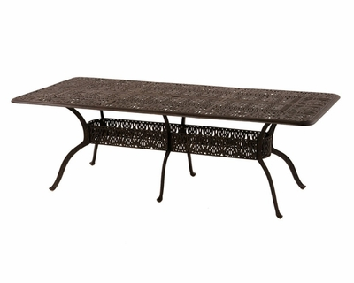 The Tybe Collection Commercial Cast Aluminum Rectangle Dining Table