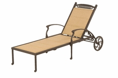 The Tybe Collection Commercial Cast Aluminum Sling Chaise Lounge