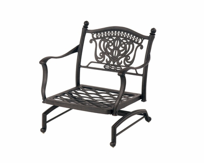 The Tybe Collection Commercial Cast Aluminum Spring Base Club Chair