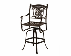 The Tybe Collection Commercial Cast Aluminum Swivel Bar Height Chair