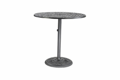 "The Vonte Collection Commercial Cast Aluminum 42"" Round Pedestal Counter Height Table"