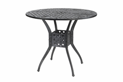 """The Vonte Collection Commercial Cast Aluminum 48"""" Round Bar Height Table"""