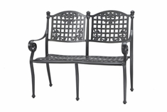 The Vonte Collection Commercial Cast Aluminum Bench