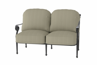 The Vonte Collection Commercial Cast Aluminum Loveseat
