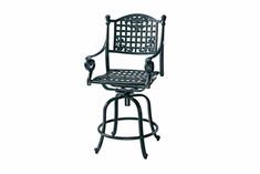 The Vonte Collection Commercial Cast Aluminum Swivel Bar Height Chair