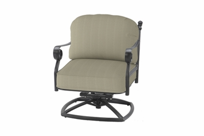 The Vonte Collection Commercial Cast Aluminum Swivel Club Chair