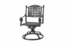 The Vonte Collection Commercial Cast Aluminum Swivel Dining Chair