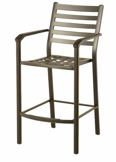 The Wheaton Collection Commercial Cast Aluminum Stationary Bar Height Chair