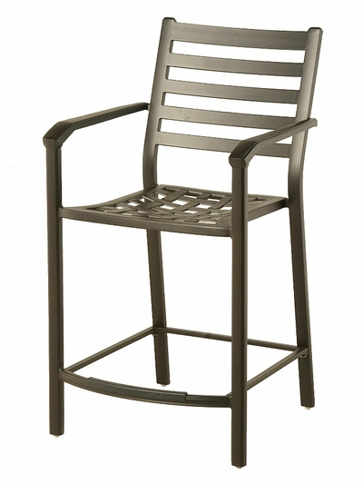 The Wheaton Collection Commercial Cast Aluminum Stationary Counter Height Chair