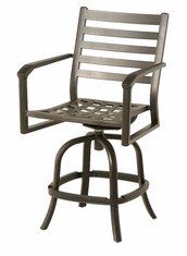 The Wheaton Collection Commercial Cast Aluminum Swivel Counter Height Chair