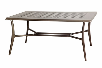 """The Willow Collection Commercial Cast Aluminum 42"""" x 63"""" Rectangle Dining Table"""