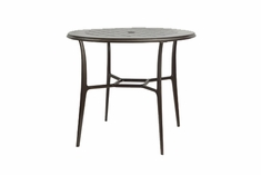 "The Willow Collection Commercial Cast Aluminum 48"" Round Bar Height Table"