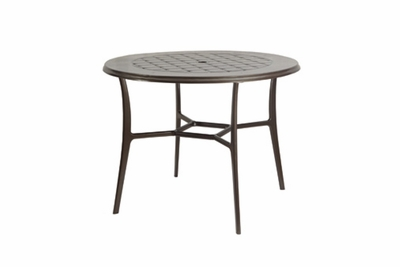 "The Willow Collection Commercial Cast Aluminum 48"" Round Counter Height Table"