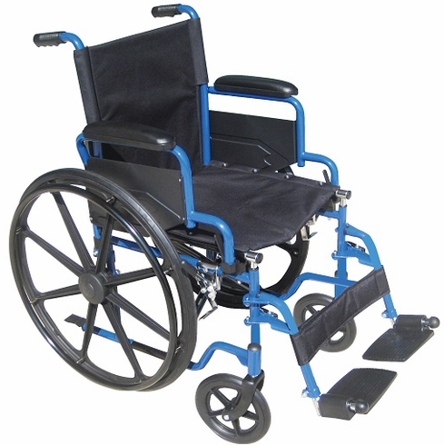 "20"" Blue Streak Wheelchair (Swing-away, Elevating Leg rests)"