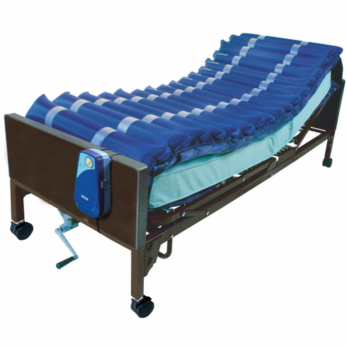 """5"""" Med Aire Low Air Loss Mattress Overlay System with APP"""