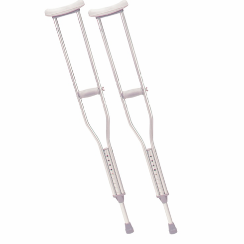 Adult Walking Crutches with Underarm Pad and Handgrip