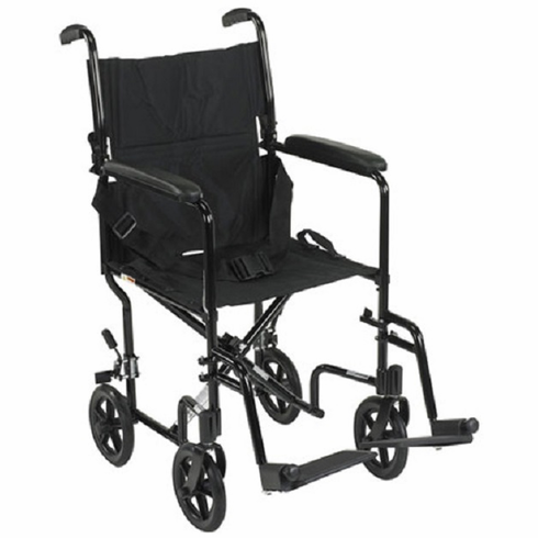 Aluminum Transport Chair (Black)