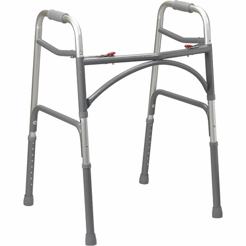 Bariatric Aluminum Folding Walker, Two Button (Adult)
