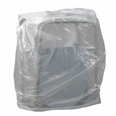 Clear Plastic Commode Storage Transport Cover Bag