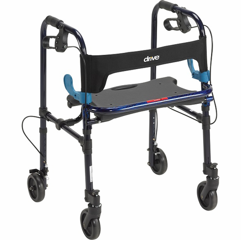 "Clever-Lite Walker, Adult, with 5"" Casters (Blue)"