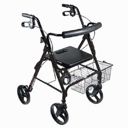 "D-Lite, Aluminum Rollator with Removable 8"" Casters (Black)"