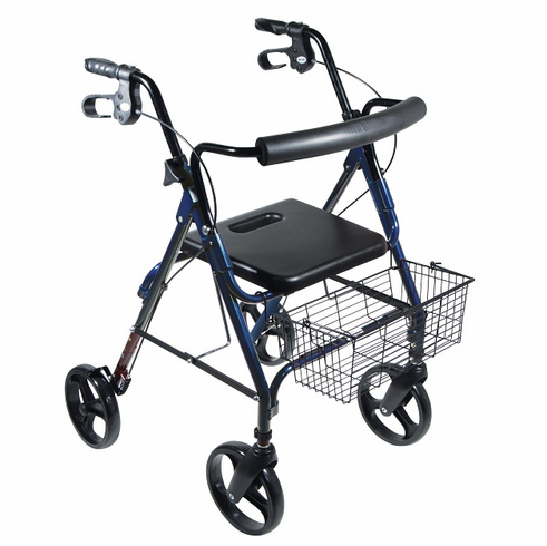 """D-Lite, Aluminum Rollator with Removable 8"""" Casters (Blue)"""
