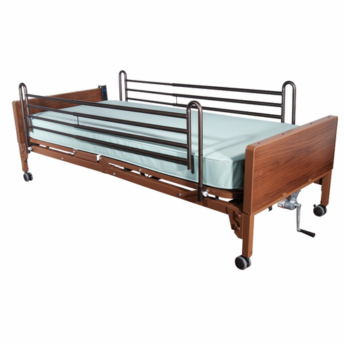 Delta Ultra Light Full Electric Bed with Full Rails and Therapeutic Support Mattress