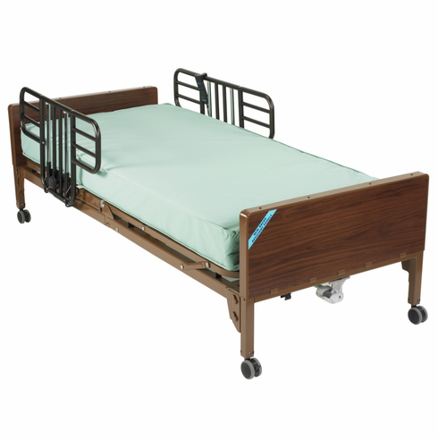 Delta Ultra Light Full Electric Bed with Half Rails and Innerspring Mattress