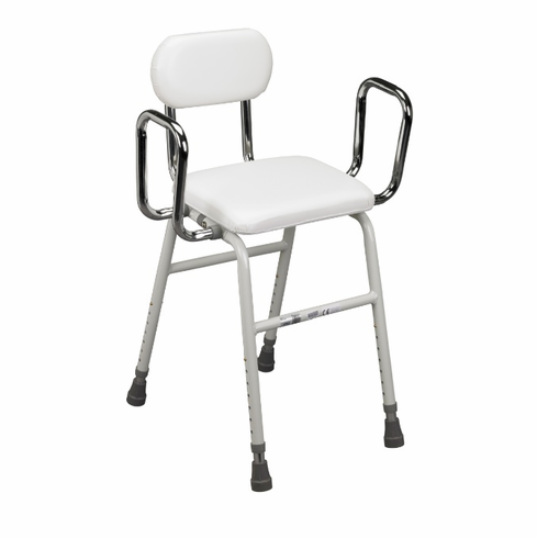 Drive Medical 12455 Kitchen Stool with Adjustable Arms