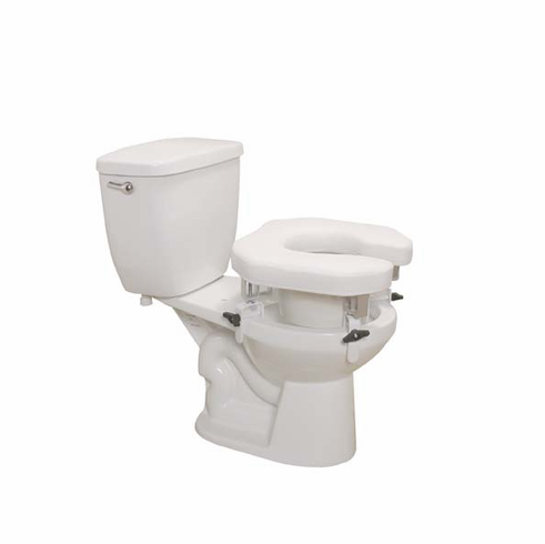 Drive Medical Padded Raised Toilet Seat w/Four Locking Brackets